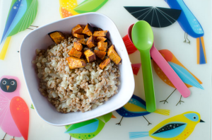 Israeli Couscous with Cinnamon Roasted Sweet Potato