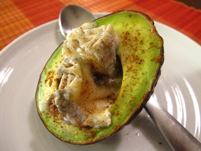 Warmed Avocado with Bonne Bouche