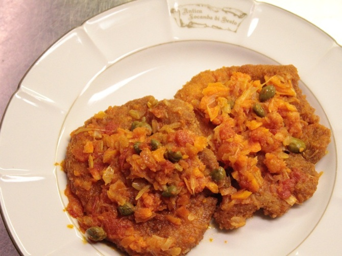 Veal escalopes Tuscan-style