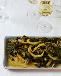 Collard Greens with Fennel and Orange Butter