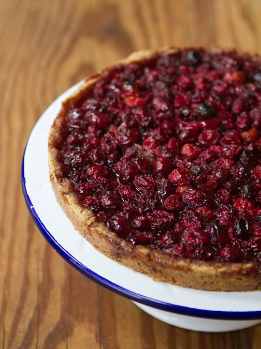 cranberry-nut-tart