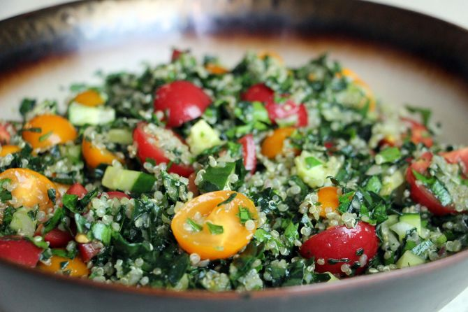 Kale and Quinoa Tabouli Salad